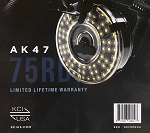 KCI AK47 75 round rear loading clear drum