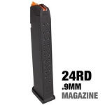 Factory Glock 17/19 9mm Extended magazine 24RDS