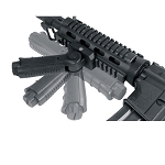 Leapers Inc. - UTG Model 4 Vertical Foregrip Fits Picatinny Ergonomic Ambidextrous Foregrip