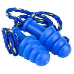 Walker's Ear Plug Rubber Corded Blue 1 Pair