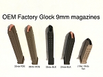 Factory OEM Glock 9mm Extended magazine options