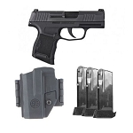 Sig Sauer P365 9mm Pistol Tac Pac W/3 12rd Magazines and Holster