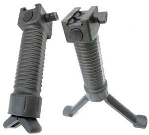 Tactical Hand Grip Spring Loaded Fore Grip Bipod