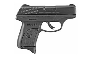 "Ruger, EC9s, Semi-automatic, Striker Fired, Compact, 9MM, 3.1"" Barrel, Nylon Frame, Black Oxide Finish"