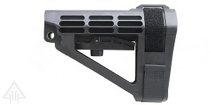 SB Tactical SBA4 Pistol Stabilizing Brace - Black No Tube